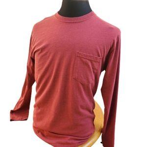 Stafford Men's Red Long Sleeve T Shirt Sz M